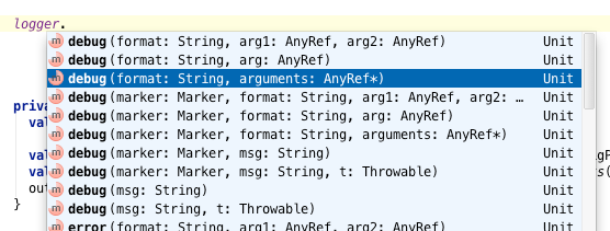 IntelliJ IDEA Suggestions with Parameter Names