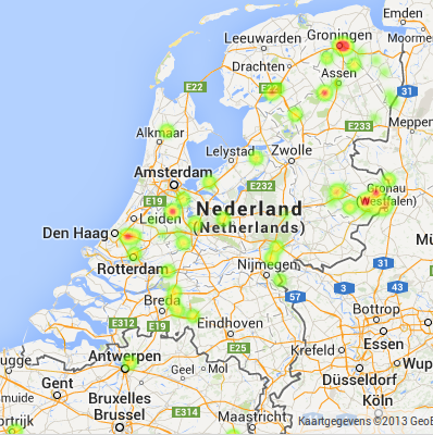 Real Time Heatmap of Your User Distribution