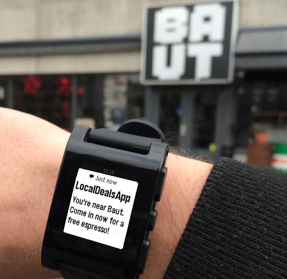 Plot Projects Location Based Notification in a Pebble