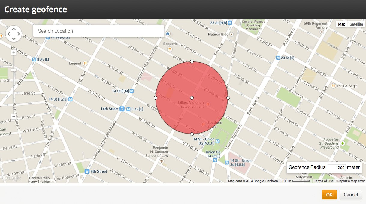 Create Geofence on a Map