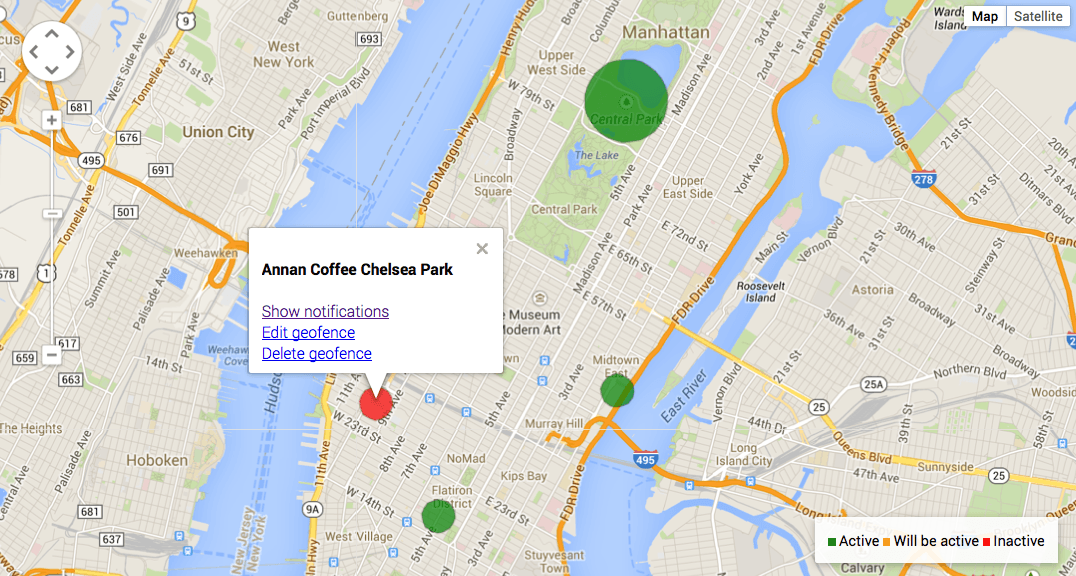 Geofence Map Overview