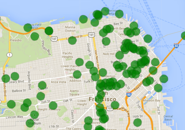 Manage geofences in our dashboard