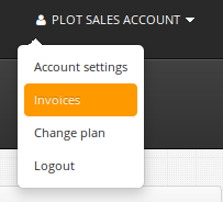 Invoices in Plot Projects Dashboard