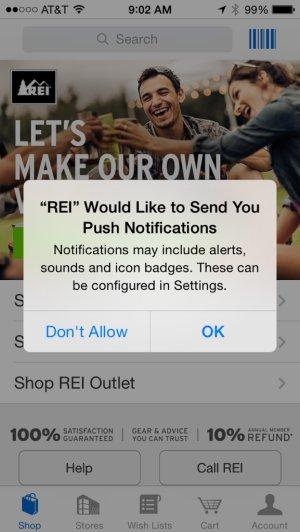 REI location campaign