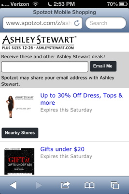 ashley stewart geofencing campaign