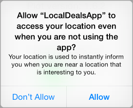 Allow the plugin to access your location even when you are not using the app?