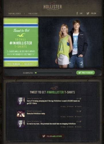hollister flock to unlock geofencing campaign