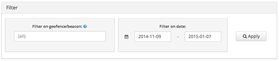analytics filter