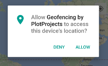 First opt-in dialog