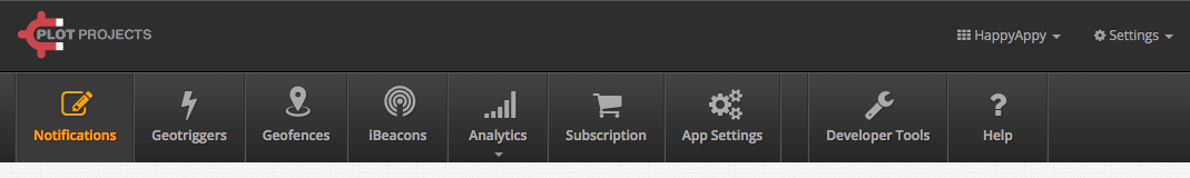The new menu bar in Plot Dashboard