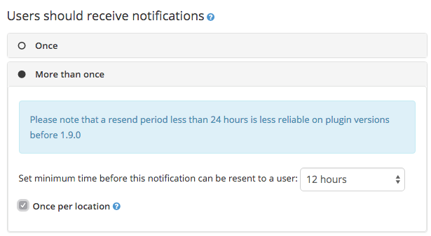 Notification resendability