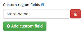 Custom Region Fields