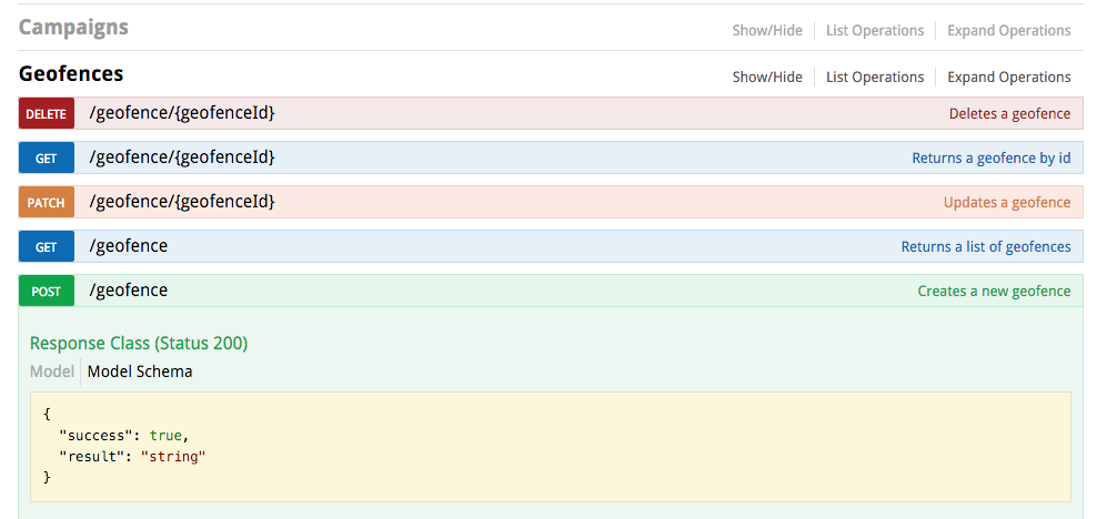 New API documentation