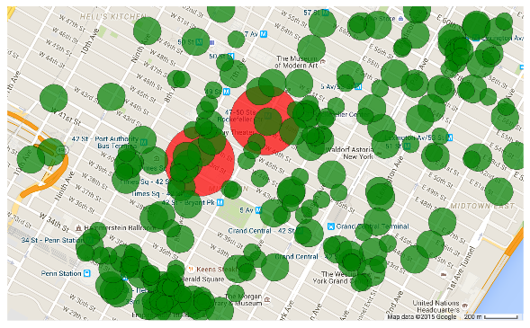 Areas with high location geofence density.png