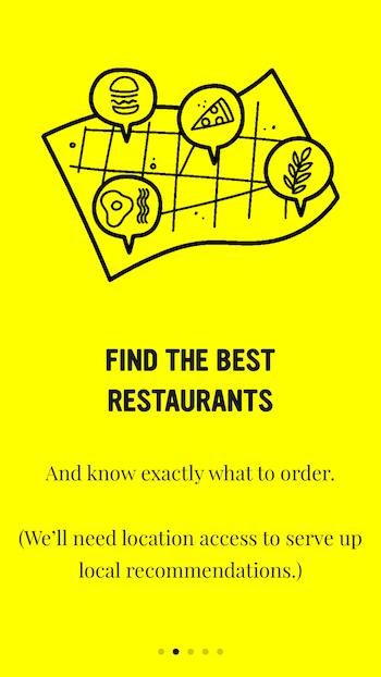 Food App Priming Screen