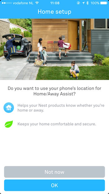 Home Automation App Priming Screen 1