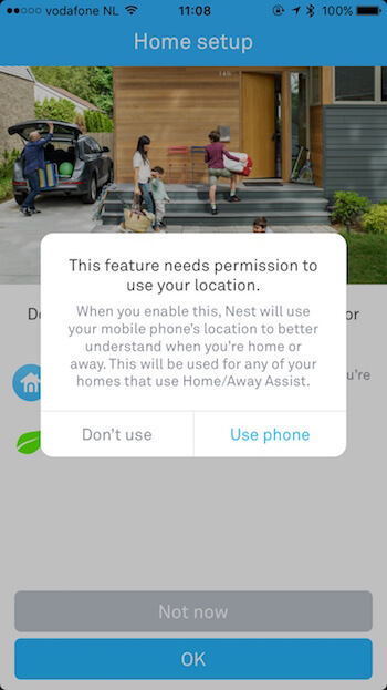 Home Automation App Priming Screen 2