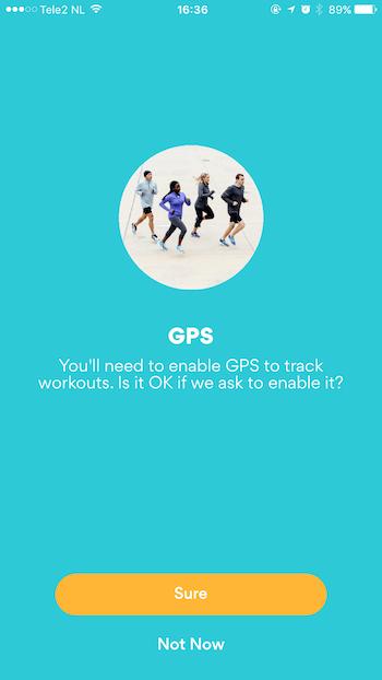 Running App Priming Screen