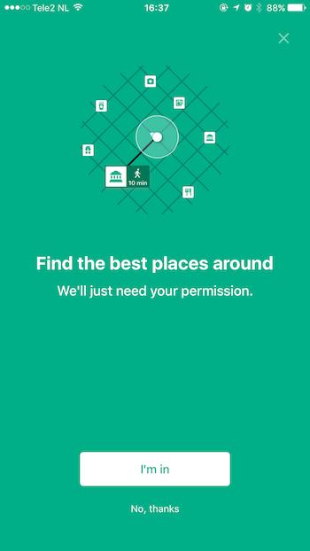 Travel App Priming Screen