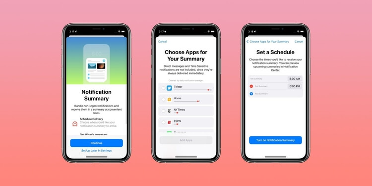 iOS 15 push notification changes